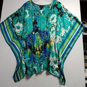 Light weight short sleeve kimono style blouse